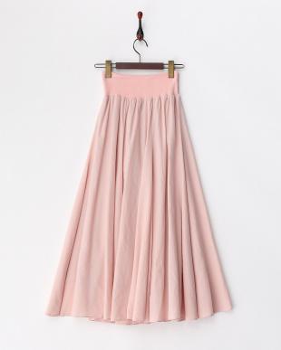 PINK  フリル付ロングスカート見る