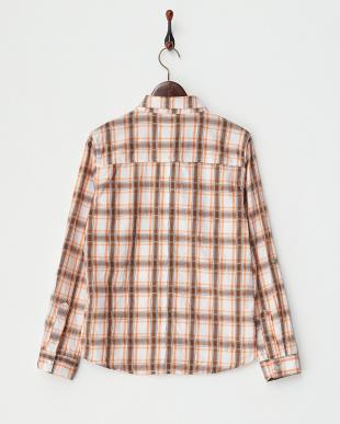 ORANGE  シワ加工チェックシャツ A見る