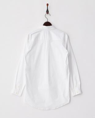 ホワイト ストレッチブロードシャツ見る