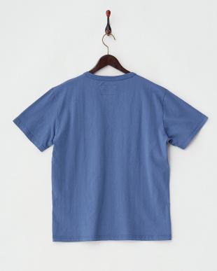 ブルーグレー  フロッキーロゴ×カモプリントTシャツ見る