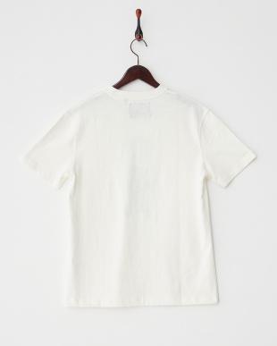 オフホワイト  スラブ天竺プリントTシャツ2見る