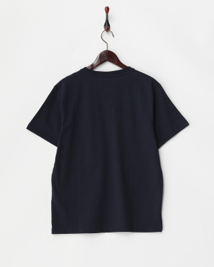 ネイビー  胸ポケット付きVネックTシャツ見る