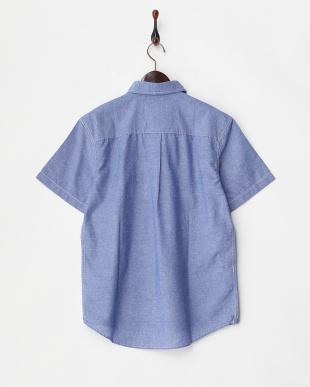 ブルー  プルオーバーボタンダウンシャツ見る