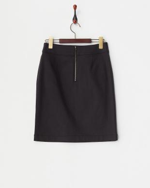 ブラック ストレッチツイルタイトスカート見る