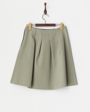 カーキ  綾フレアスカート見る