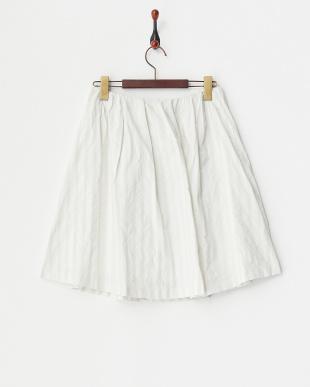シルバーグレー メモリーストライプスカート見る