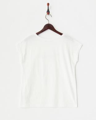 ホワイト グリッター刺繍Tシャツ見る