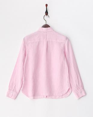 ピンク 2WAYリネンレギュラーシャツ見る