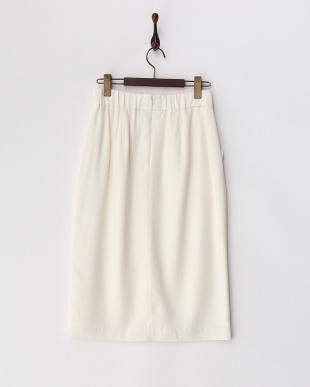 ホワイト  ブロークサテン タイトスカート 見る