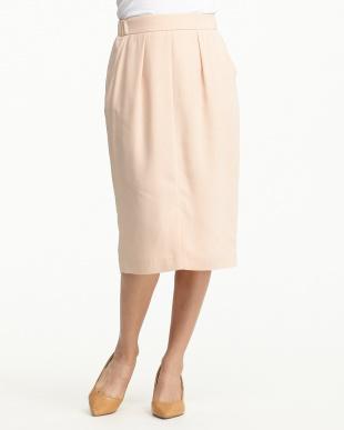 ライトピンク  ブロークサテン タイトスカート 見る