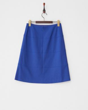 ブルー 4段切替ポンチスカート見る