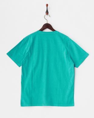 グリーン フェード加工Tシャツ見る