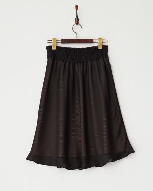 ブラック  ウエストシャーリングジャカードスカート見る