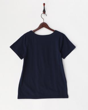 ネイビー  抗菌加工半袖Tシャツ見る