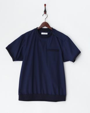 BLUE  半袖シャツ(プルオーバー)・肩ジップ見る
