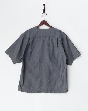 INDIGO 半袖ボートネックシャツ(プルオーバー)・テンセルコットン見る