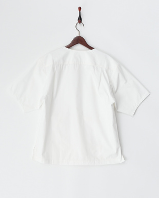 WHITE  半袖ボートネックシャツ(プルオーバー)・コットン見る