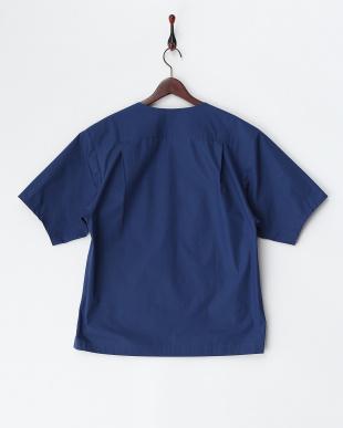 BLUE  半袖ボートネックシャツ(プルオーバー)・コットン見る