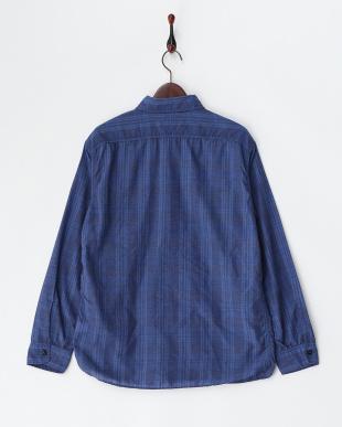 インディゴブルー系(982)  チェックシャツ見る