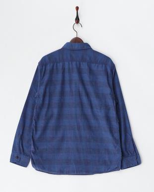 インディゴブルー系(984)  チェックシャツ見る