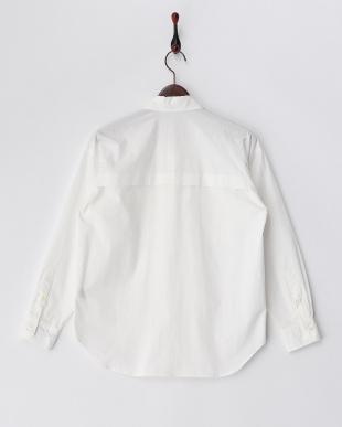 ホワイト  オーバーサイズコットンシャツ見る