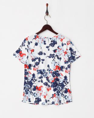 WHF(ホワイトフラワー) コットンモダール ソフトVネック半袖Tシャツ見る