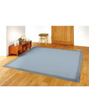ブルー  ブルーム キルトラグ 185×185cm見る