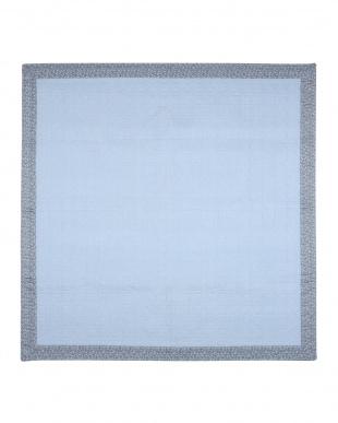 ブルー  ブルーム キルトラグ 185×240cm見る