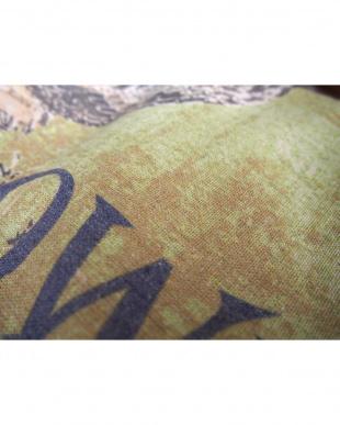 イエロー フクロウクッションカバー 45×45cm見る