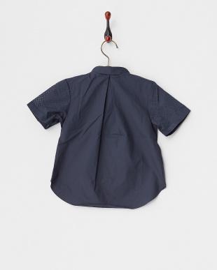 NAVY  Girlsパンチングシャツ(半袖)見る