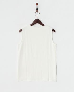 WHITE  モックネックTシャツ(ノースリーブ)見る