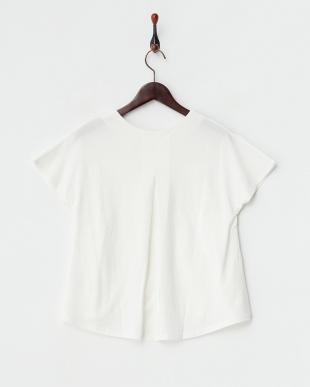 WHITE  シルケットタックTシャツ見る