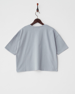 BLUE GRAY  オーガニックコットンVネックTシャツ(5分袖)見る