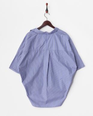 STRIPE BLU  タイプライタールーズシャツ見る