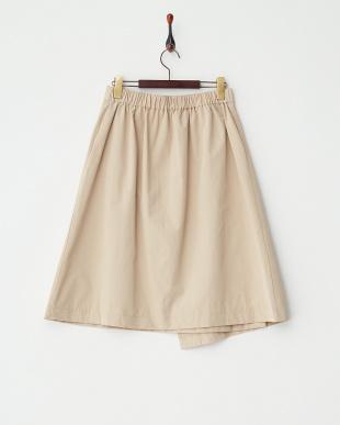 BEIGE  ベルト付ラップスカート見る