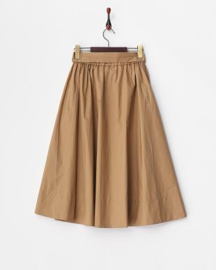 CAMEL  ウエストリボンミディボリュームスカート見る