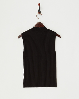 BLACK リブハイネックセーター(ノースリーブ)見る