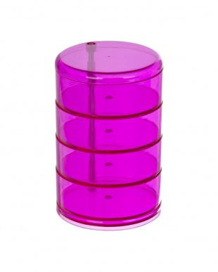ピンク 化粧小物オーガナイザー タワー見る