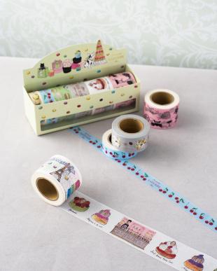 ピンク  マスキングテープ・6巻セット/LADUREE見る