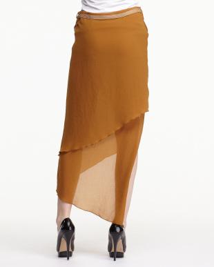 orange SHROUD レイヤードスリットスカート見る