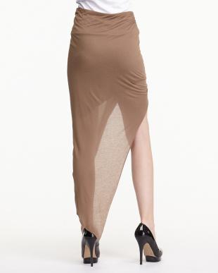 brown スラックジャージー ドロストスカート見る