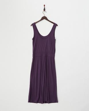 purple  ENTITY ジャージーロングドレス見る