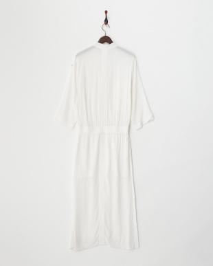 white ガーゼクレープ ドレス見る
