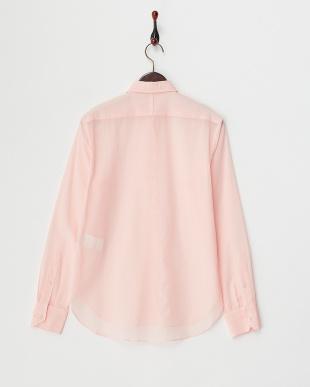 pink オペークコットンボイルシャツ見る