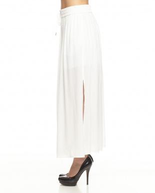 white ガーゼクレープスカート見る