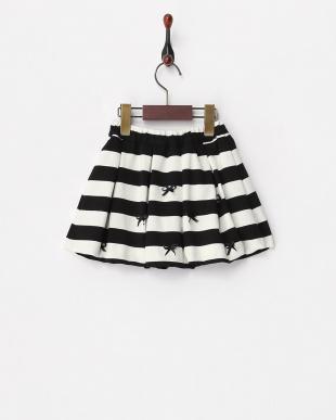 黒  ボーダーリボン バルーンスカート(160cm)見る