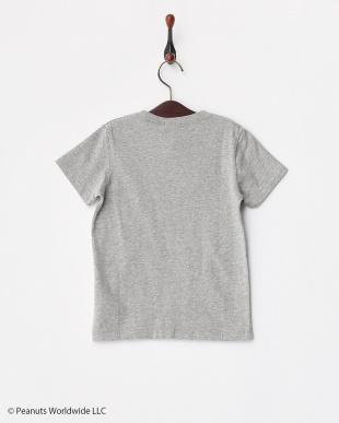 杢グレー  PEANUTSポケットTシャツ見る