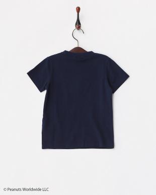 ネイビー  PEANUTSポケットTシャツ見る