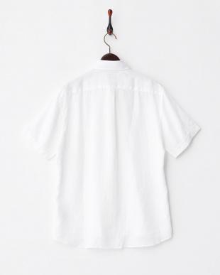 WHITE  ANX.LINEN ボタンダウンシャツ見る