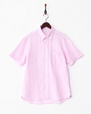 PINK  ANX.LINEN ボタンダウンシャツ見る